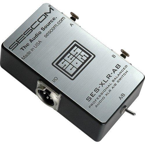 sescom-ses-xlr-ab-balanced-audio-pro-grade-xlr-a-b-passive-switch-2-female-xlr-to-1-male-xlr
