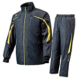 【ミズノ】 ウィンドブレーカーシャツ&パンツ (12JE4W83 12JF4W53) M 09×09 ブラック×ゴールド