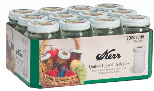 Kerr 7061000115 12 Oz Decorative Jelly Jars (Quilted Canning Jars compare prices)