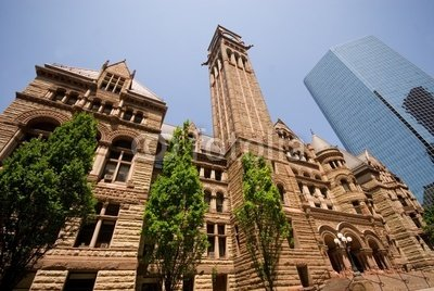 Wallmonkeys Peel and Stick Wall Decals - The Historic Old City Hall, Downtown Toronto, Canada. - 72