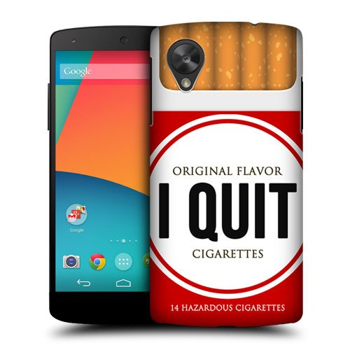 Head Case Designs I Quit Cigarette Pack Inspired Protective Snap-On Hard Back Case Cover For Lg Google Nexus 5 D820 D821