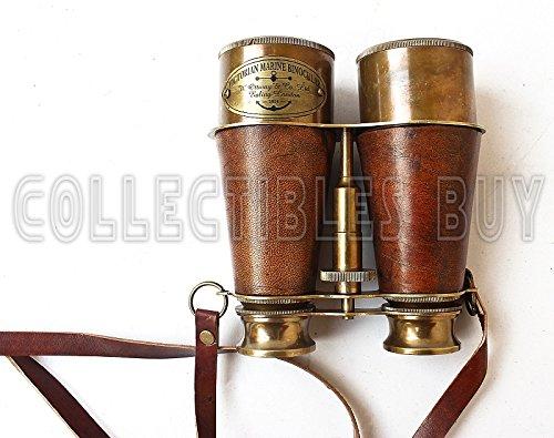 Victorian Marine Brass Leather Binocular Sailor Instrument London 1915 5