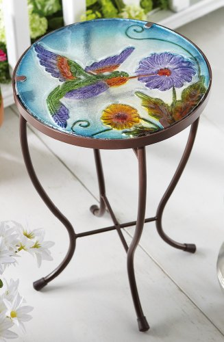 Collections Etc - Hummingbird Garden Patio Accent Table