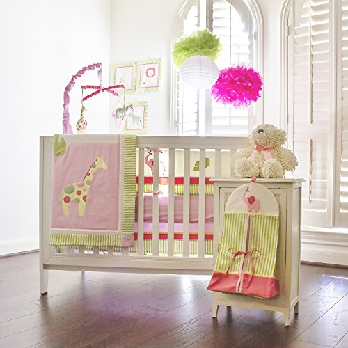 Pam Grace Creations Zoe's Zoo Day 10 Piece Crib Set With Bumper, Zoe's Zoo Day