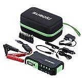 Suaoki G7 - Jump Starter de 18000mAh, Pack de emergencia para arranque de coche (vehículo de gas o diesel 12V/16V/19V, linterna LED, cargador de batería para smartphone, tablet y portátil), Verde