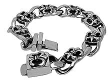 buy Btime Christmas Retro Classic Scout Flowers Polishing Titanium Steel Bracelet
