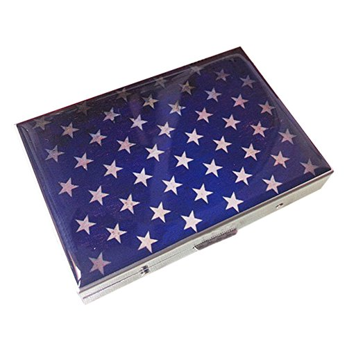 [Vintage Star]Fashion Durable Nobility Aluminium Alloy Cigarette Case Cig Holder
