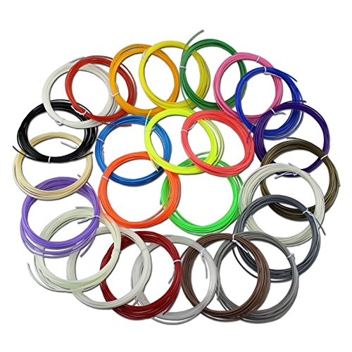 6m x 25pcs ABS 1.75mm 3D Pen Filament for 3D Printing Pen with Free Ebook included (1 4 Line Filter Dryer compare prices)