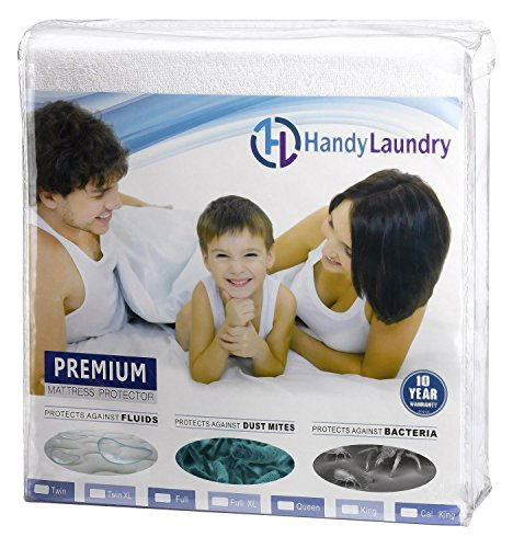 Buy Cheap Handy Laundry Premium Mattress Protector 100% Waterproof - Breathable Soft Cotton Terry Co...
