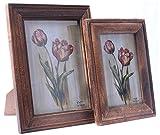 Nayahub Wooden Photo Frames (24 Cm x 19 Cm x 2 Cm, Multi colour, NP35)