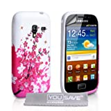 Samsung Galaxy Ace Plus Case Silicone Floral Bee Cover With Screen Protectorby Yousave Accessories