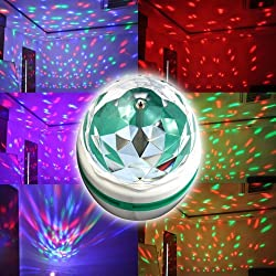 Abco Tech E27 Full Color Rotating Lamp Strobe LED Crystal Stage Light for Disco Party Club Bar Dj . Ball Bulb Multi Color Changing by Abco Tech