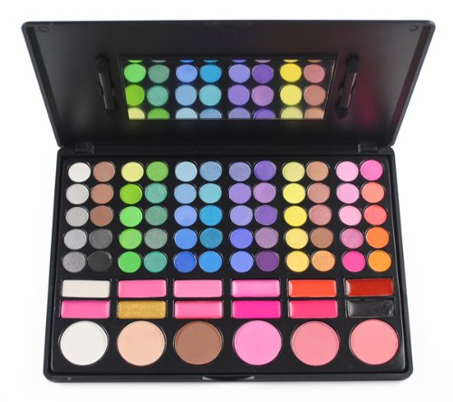 Frola Cosmetics Professional 78 Colour Eyeshadow Makeup Palette Kit with 6 Blush Blusher and 12 Lipsticks #03