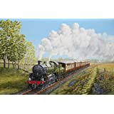 Tallenge Art For Kids Room Décor - Every Child Loves Trains - Painting - A3 Size Rolled Poster