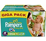Baby-Dry Nappies (size 4 plus 9-20 kg) - 1 Gigapack containing 135 nappies