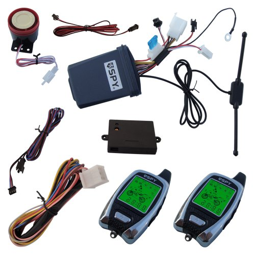 Spy 2 Way Motorcycle Alarm System Lm209 With 2 Lcd Transmitters & Microwave Sensor