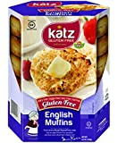 Katz Gluten Free English Muffins, 8.5 Ounce, Certified Gluten Free - Kosher - Dairy, Nut, Egg & Soy free - (Pack of 1)