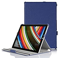 Exact Microsoft Surface Pro 3 Case [BUCKLER Series] - Slim-Fit Multi-Stand Case for Microsoft Surface Pro 3 12-inch Tablet Navy Blue