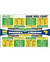 Official 2014 World Cup Brazil Wall Chart
