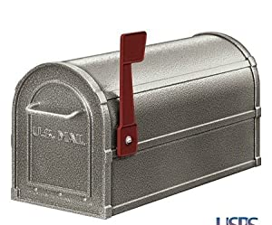 Deluxe Rural Mailbox Color: Pewter