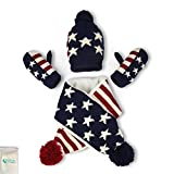 Gellwhu Kids Knitted Beanie Hat Scarf and Mittens Gloves Set for Baby Boys Girls 1-4T