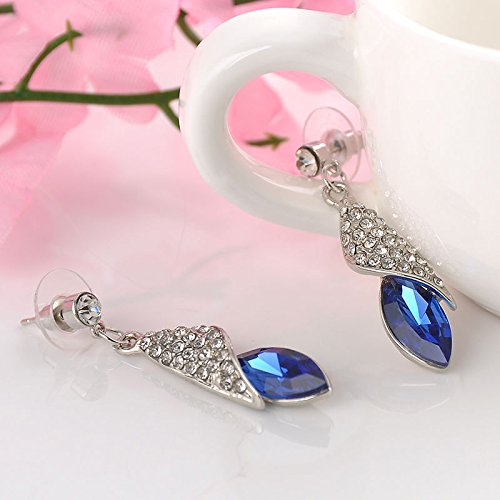 1 Pair Elegant Women Lady Fashion Crystal Rhinestone Hook Ear Stud Earrings Gift, DeebBlue. (Alex Ani Display compare prices)