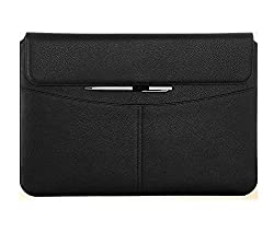 Macbook 12 Case, Macbook 12 inch Sleeve Case, Huawei Matebook 12 Case, FYY Premium PU Leather Case with Pockets for New Apple Macbook 12 inch(2015 Thinnest Version) Black (Exquisite Stylus for Free)