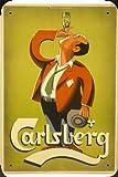 Tin Sign of Carlsberg Beer: Man (1952) Metal Poster Plate 8