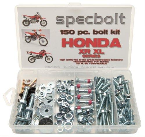 150pc Specbolt Honda XR XL four stroke Bolt Kit Maintenance & Restoration of Dirtbike OEM Fasteners XR50 XR80 XR100 XR185 XR200 XR250 XR400 XR500 XR600 XR650 and XR XL models 50 80 100 185 200 250 400 500 600 650 (Honda Xr250 Exhaust compare prices)