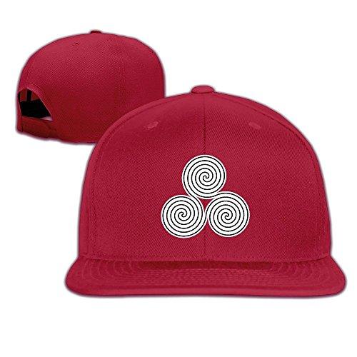 NUBIA Triple Symbol Sunbonnet Baseball Cap Adjustable Flat Bill Hat Red