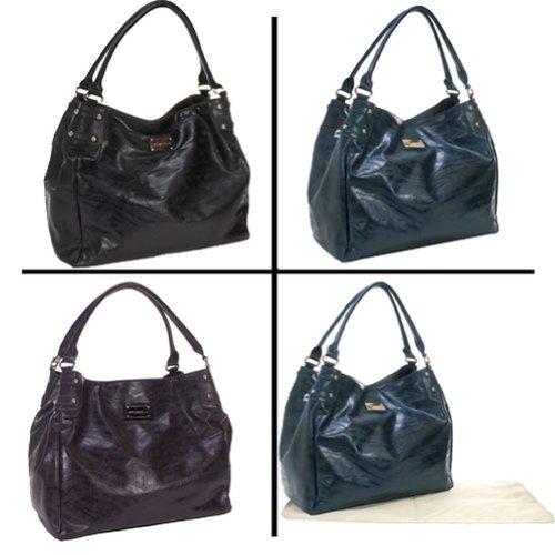 Amy Michelle Designer Zebra Bebe Turquoise Double Strap Diaper Bag front-747026