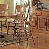 Oak Finished Arm Chair (Set of 2) by Coaster Furniture