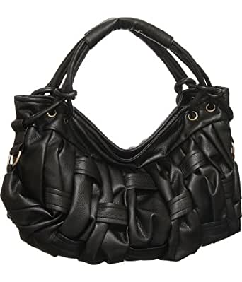 Black Large ''Modern Weave'' Hobo