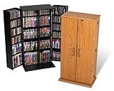 Tall Locking Media Storage Cabinet - Oak