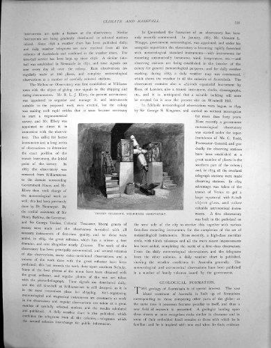 Antique Print Of Australasia Transit Telescope Melbourne Observatory C 1850
