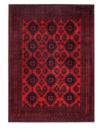 Bashian Rugs One-of-a-Kind Afghan Rug, Red, 8' 2 x 11' 1