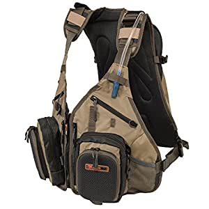 Fly fishing backpack and vest combo by for Fishing vest amazon