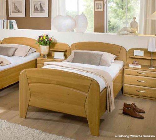 bett vanessa plus in komforth he 90x190 cm seniorenbett einzelbett wildeiche teilmassiv. Black Bedroom Furniture Sets. Home Design Ideas