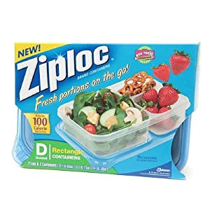 Ziploc Divided Container, Rectangle 2 ea
