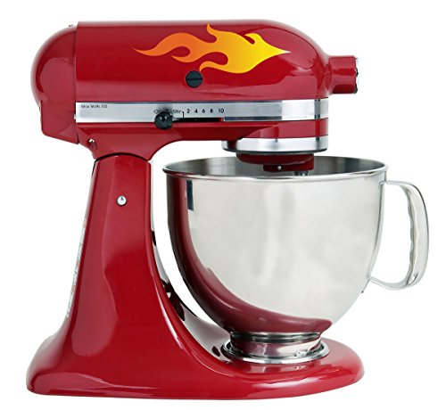 Hot Flames Bakery Kitchenaid Mixer Mixing Machine Decal Art Wrap (Mixer Flames compare prices)