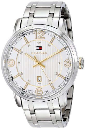 Tommy-Hilfiger-Mens-1710344-Two-Tone-Stainless-Steel-Watch