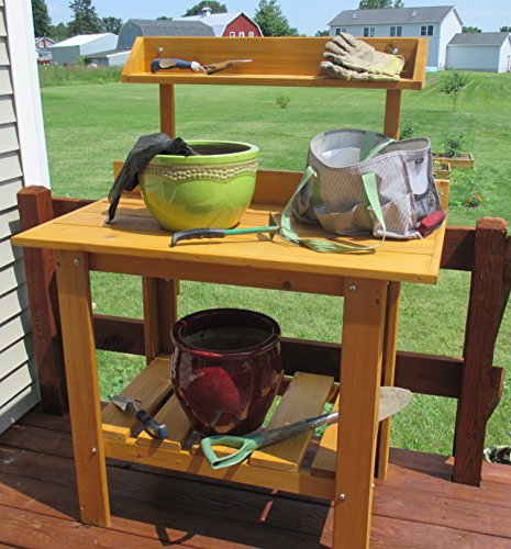 Infinite Cedar Premium Quality Potting Table (Western Red Cedar Potting Bench compare prices)