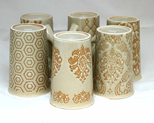 Stoneware Mugs Set Of 6 Ivory (Ivory)
