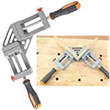 Double Handle Corner Clamp Large Size, Quick-Jaw Right Angle 90 Degree Corner Clamp for Welding, Wood working, Photo Framing - Perfect Gift for Men