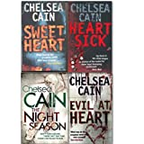Chelsea Cain collection 4 Books set. (Evil at Heart, Heartsick, Sweetheart and the night season)