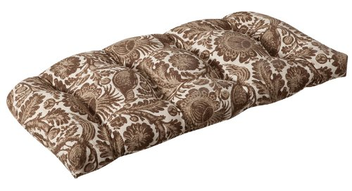 Buy Low Price CC Home Furnishings Outdoor Patio Furniture Wicker Loveseat Cushion – Provincial Court (B004URS5NI)