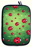 Flash Superstore Ladybirds Water Resistant Neoprene Soft Zip Case/Cover suitable for Fujitsu Lifebook A530 ( 15-16 Inch Laptop / Notebook )
