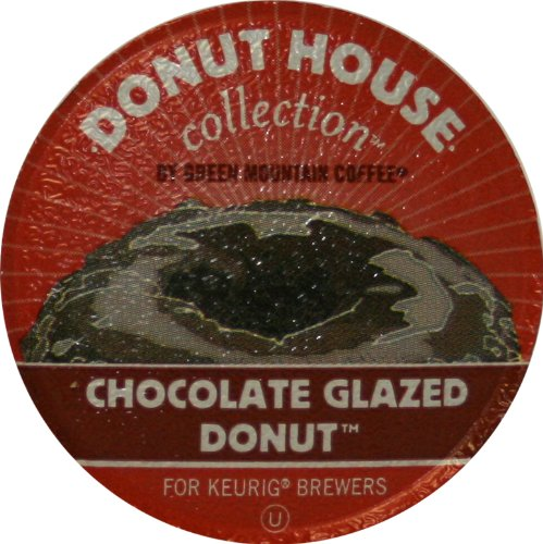 Donut House Collection Coffee, Chocolate Glazed Donut, 24-Count K-Cups for Keurig Brewers