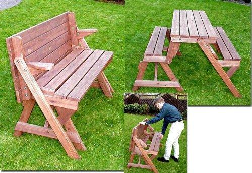 Holzbank-Tisch-Sitzgarnitur-clevere-Sache-die-Kombibank-Gartenbank