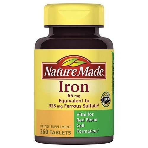 Nature Made Iron Dietary Supplement Tablets, 65mg, 260 count (Iron Supplement Nature Made compare prices)
